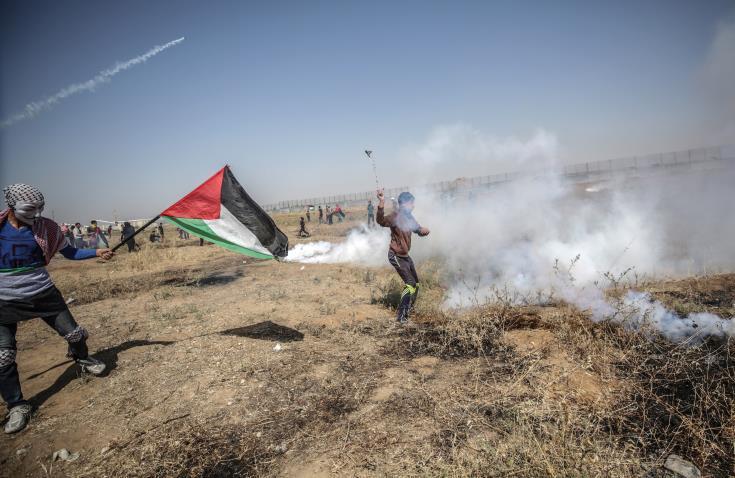 Χιλιάδες Παλαιστίνιοι διαδηλώνουν για την 71η επέτειο της «Καταστροφής»